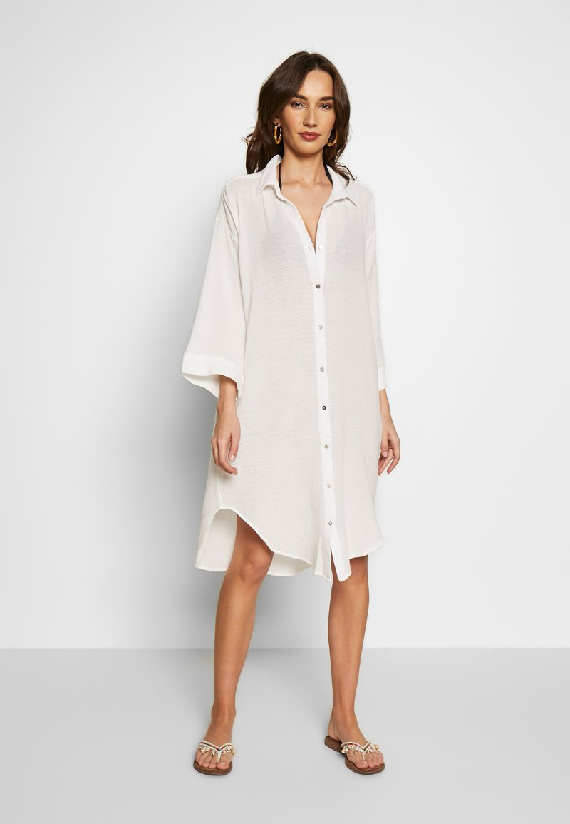 Seafolly - BEACH EDIT OVERSIZE BEACH COVER UP - Complementos de playa - off white