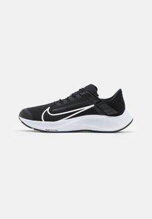 AIR ZOOM PEGASUS 38 FLYEASE - Neutral running shoes - black/white/anthracite/volt
