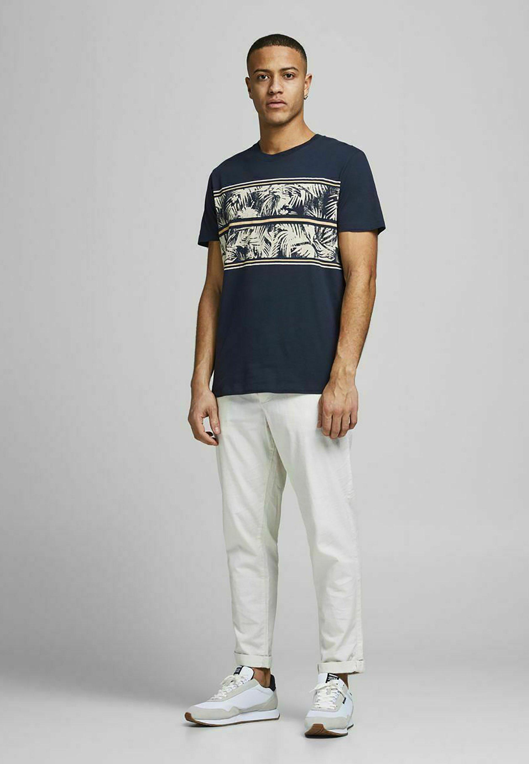 Herrer PALMEN-BLOCKPRINT - T-shirts print