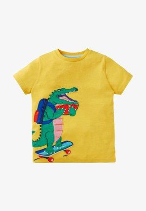 Print T-shirt - narzissengelb, krokodil