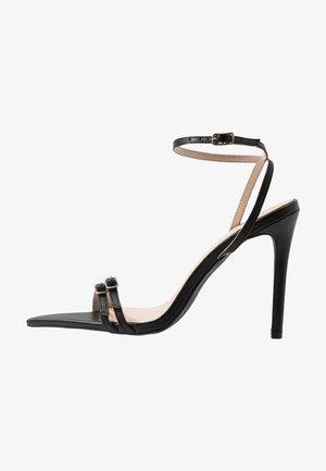 WESTRA - High heeled sandals - black