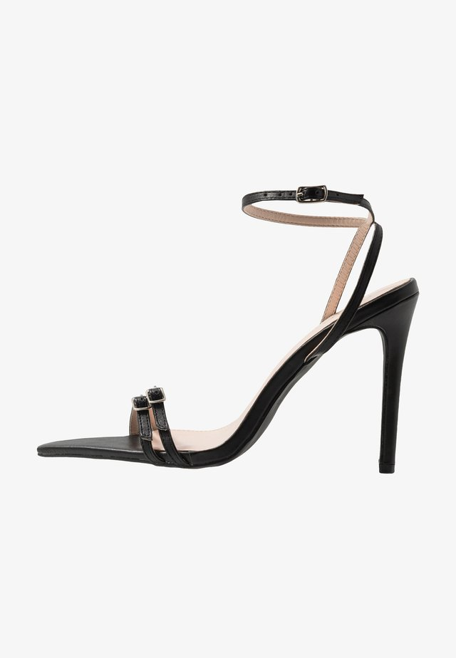 WESTRA - High heeled sandals - black