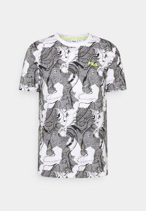 DALLAN TEE - T-shirt imprimé - bright white