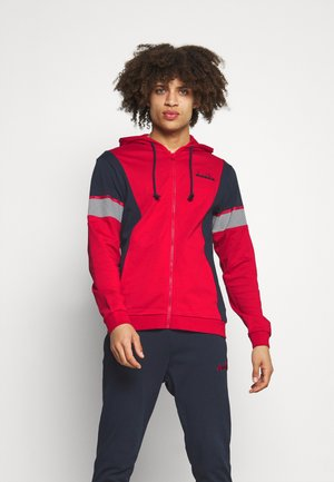 TRACKSUIT HOODIE CORE - Träningsset - molten lava red