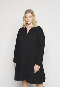 Kaffe Curve - KOBINE DRESS - Day dress - black deep - 0