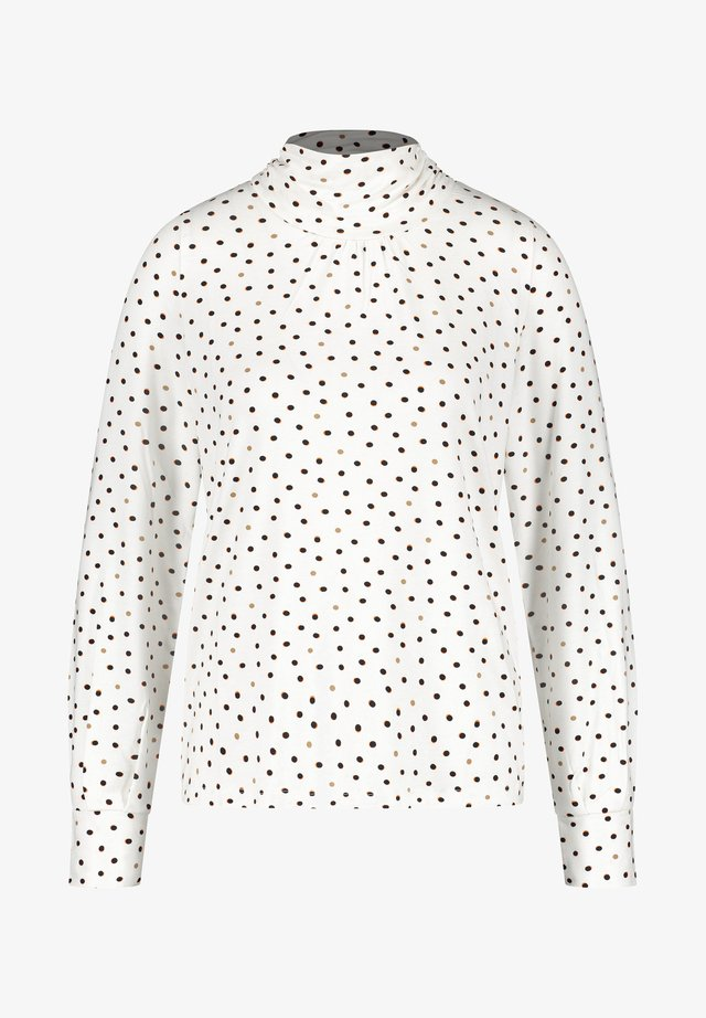 MIT TUPFEN - T-shirt à manches longues - black gemustert