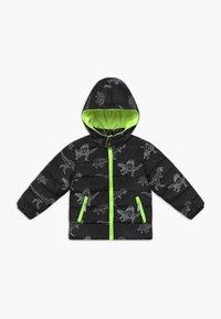 Blue Seven - KIDS BLACK DINOSAUR PRINT - Winter jacket - schwarz - 0