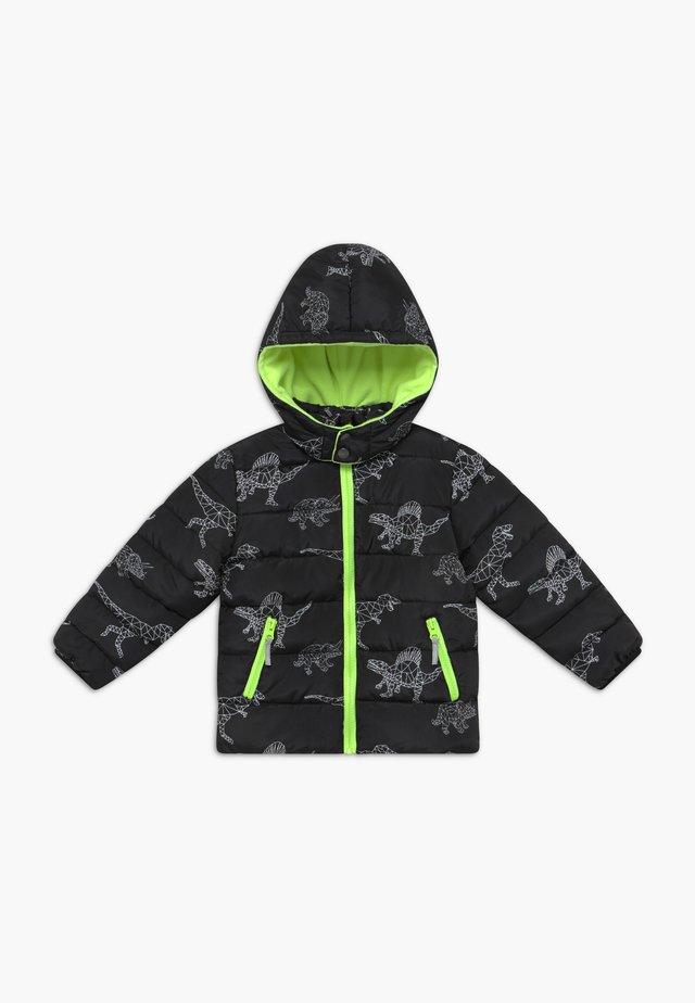 KIDS BLACK DINOSAUR PRINT - Veste d'hiver - schwarz
