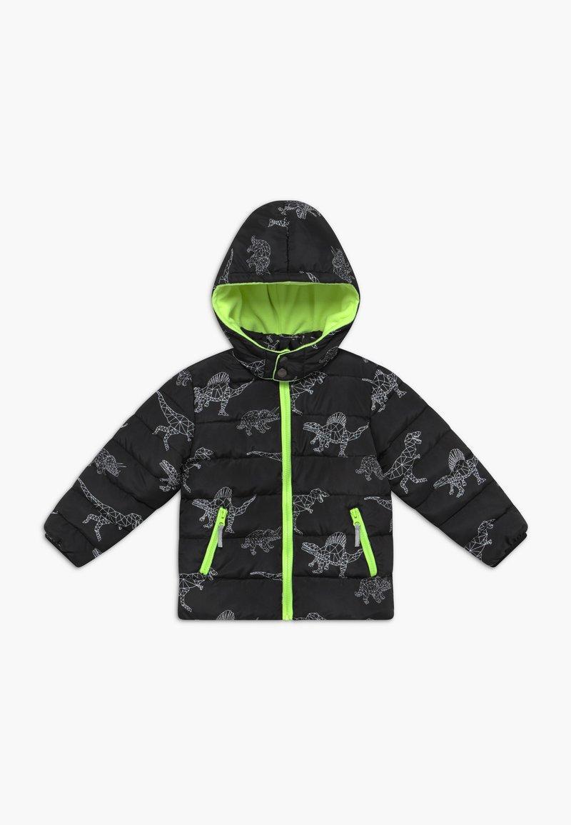 Blue Seven - KIDS BLACK DINOSAUR PRINT - Winter jacket - schwarz