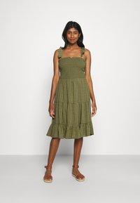 ONLY - ONLPELLEA LIFE STRAP DRESS - Day dress - capulet olive - 0