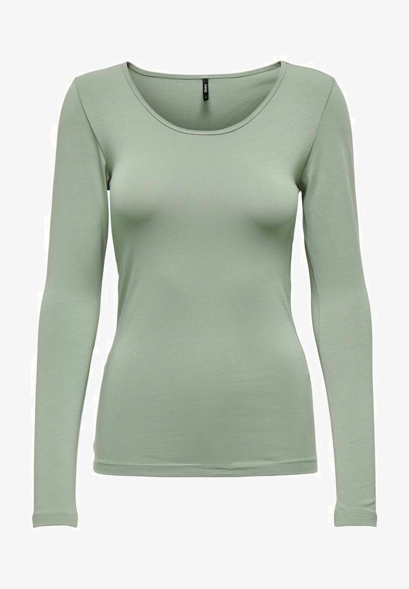 ONLY - BASIC - Long sleeved top - shadow