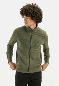 camel active - Zip-up sweatshirt - olive brown - 0