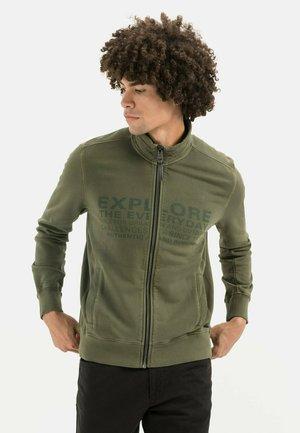 Zip-up sweatshirt - olive brown