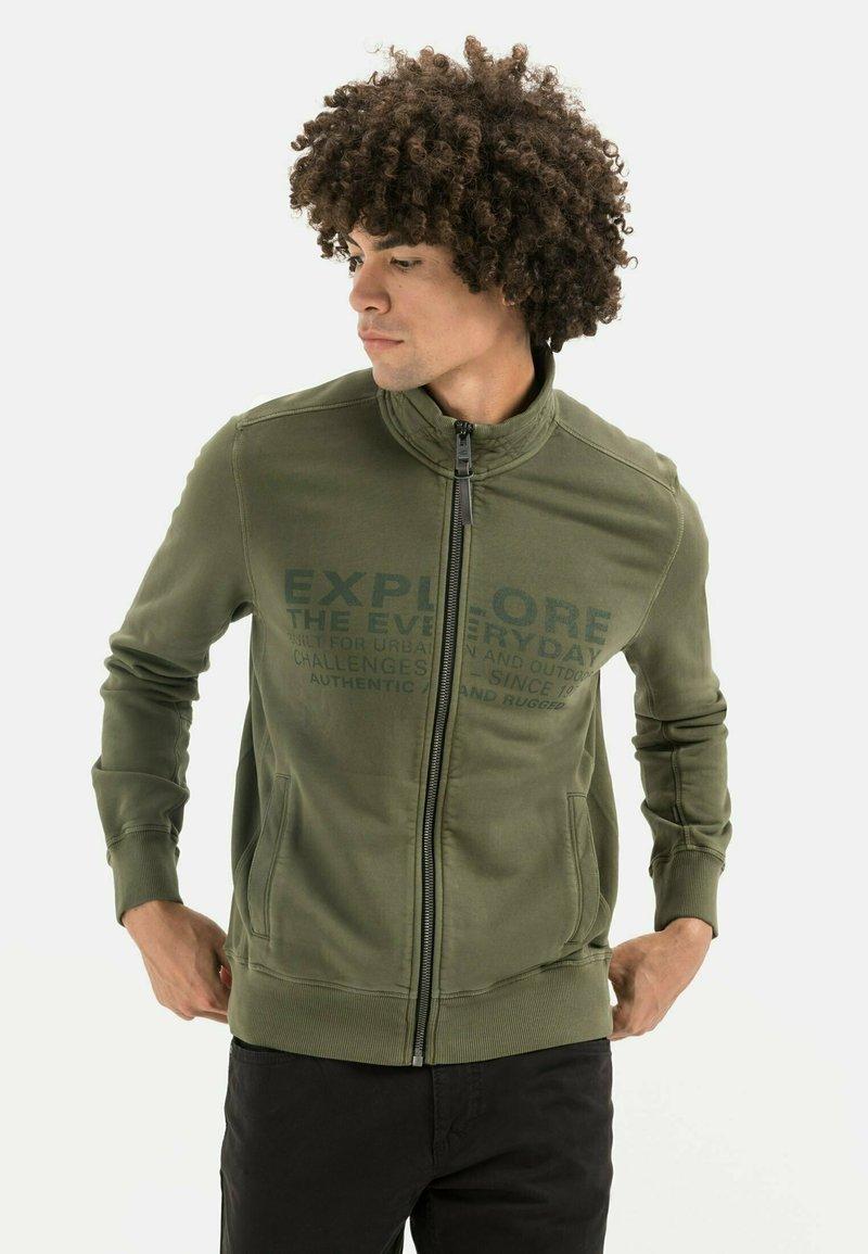 camel active - Zip-up sweatshirt - olive brown