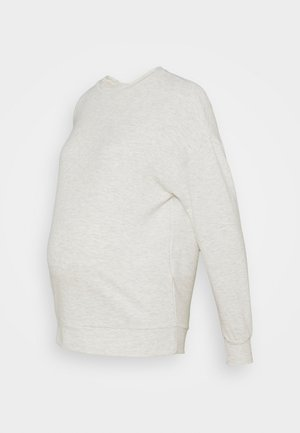 PCMRELAX BLOUSE - Sweatshirt - light grey melange