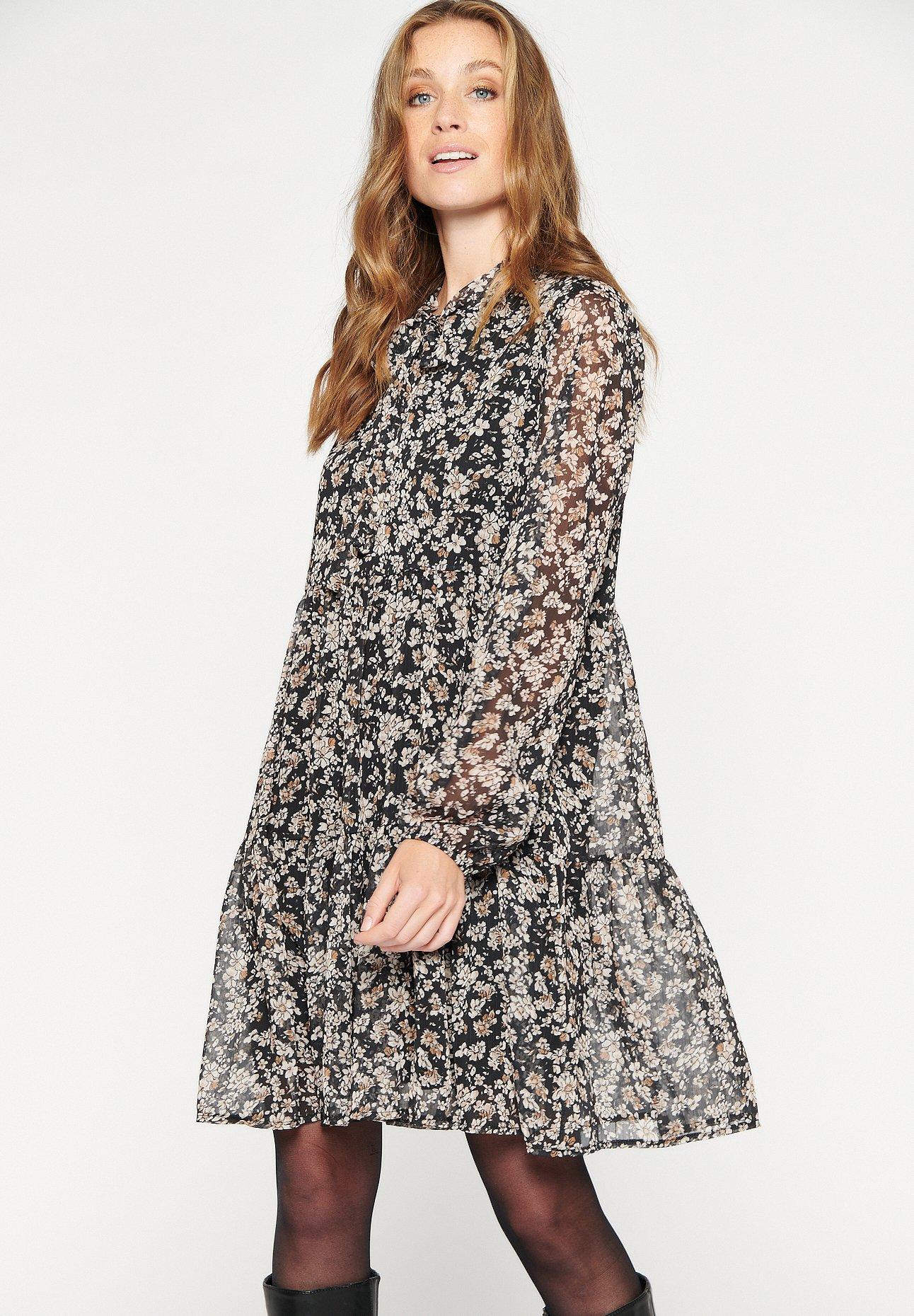 Mujer SEE-THROUGH SLEEVED - Vestido informal