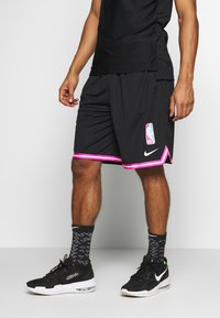 Nike Performance - NBA SHORT DNA - Krótkie spodenki sportowe - black/laser fuchsia/white - 0