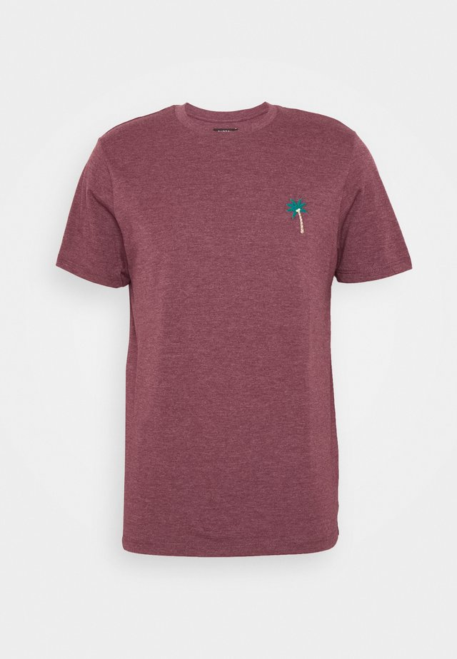 PALM TREE EMBELLISHED SUMMER MARL  - Print T-shirt - burgundy