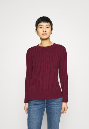 DOORBUSTER CREW CABLE - Jumper - burgundy
