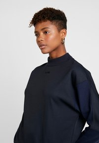 G-Star - PLEAT LOOSE COLLAR - Sweatshirt - mazarine blue - 3