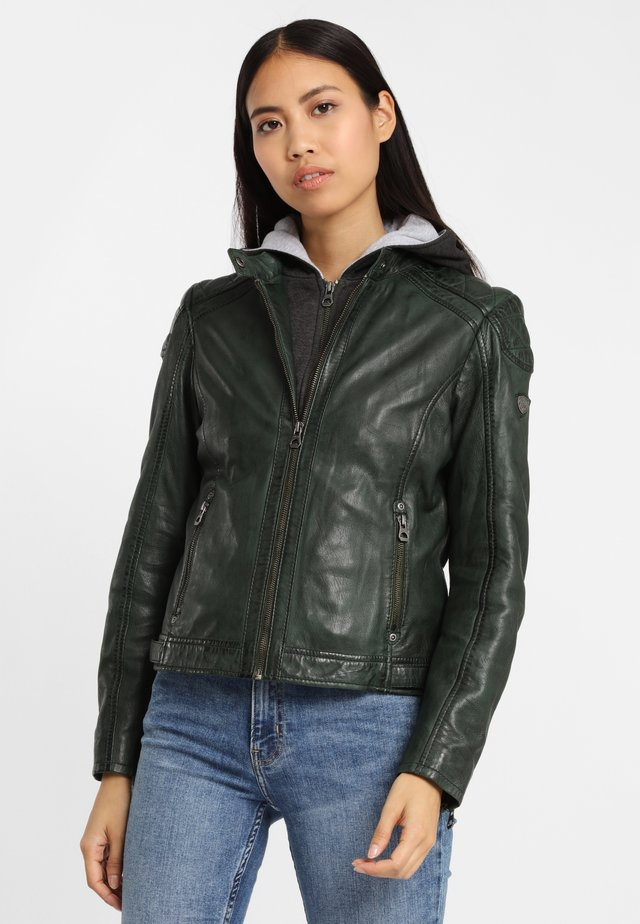 GABBY LAMAS - Leather jacket - dark green