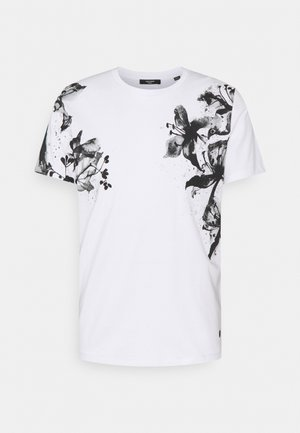 JPRBLALELY TEE CREW NECK - T-shirt con stampa - white