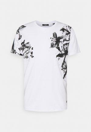 JPRBLALELY TEE CREW NECK - Print T-shirt - white