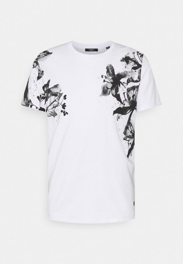 JPRBLALELY TEE CREW NECK - T-shirt print - white