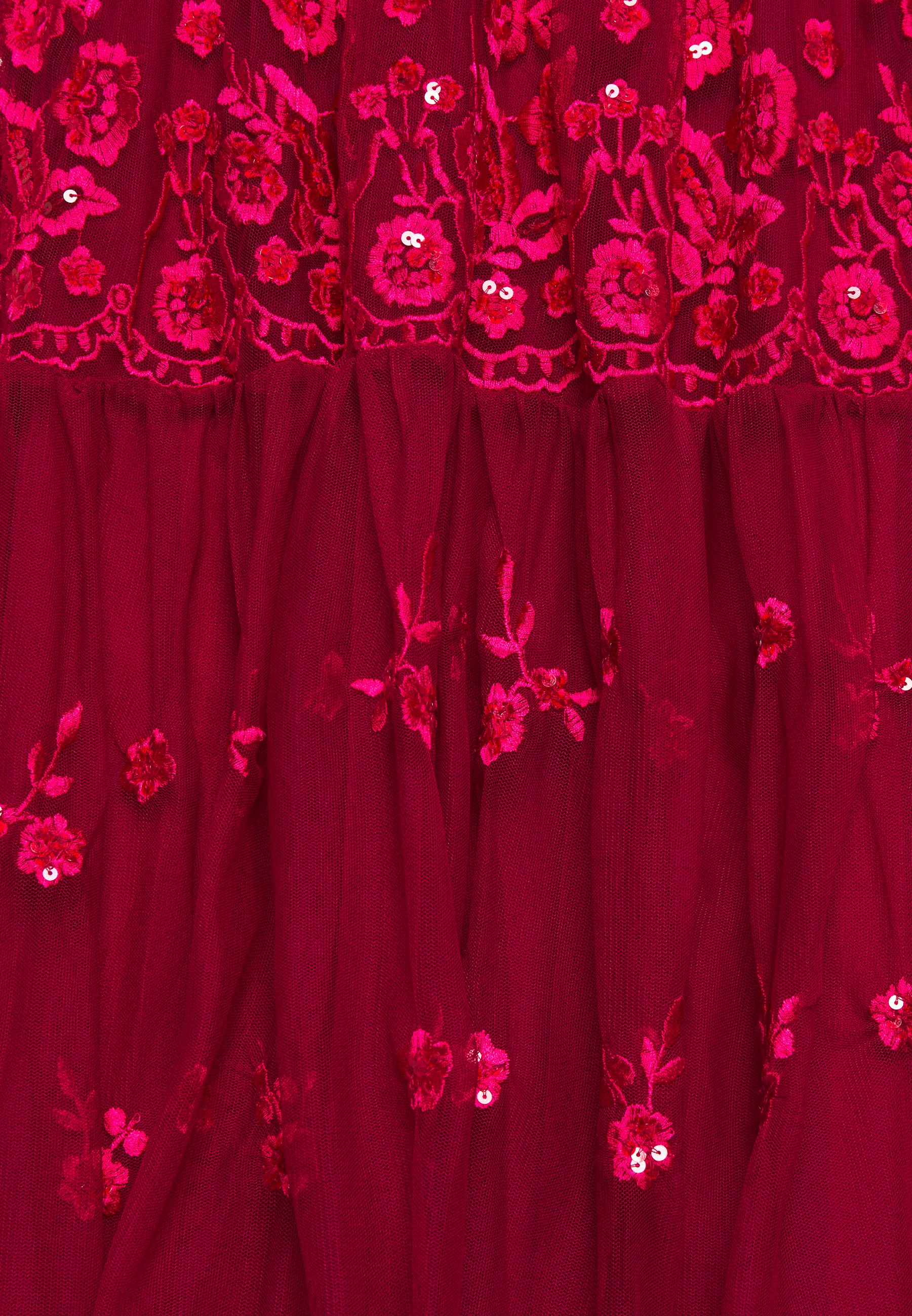 STUDIO ID EMBROIDED DRESS Cocktailkleid/festliches Kleid red/rot