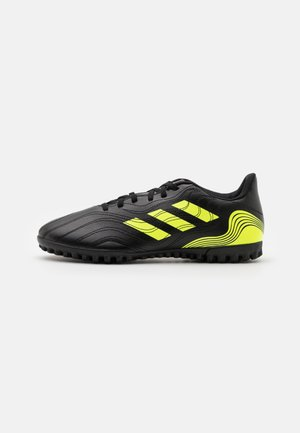 COPA SENSE.4 TF - Astro turf trainers - core black/solar yellow