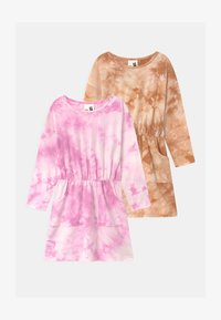 Cotton On - SIGRID LONG SLEEVE 2 PACK - Jersey dress - purple paradise/roasted almond - 0