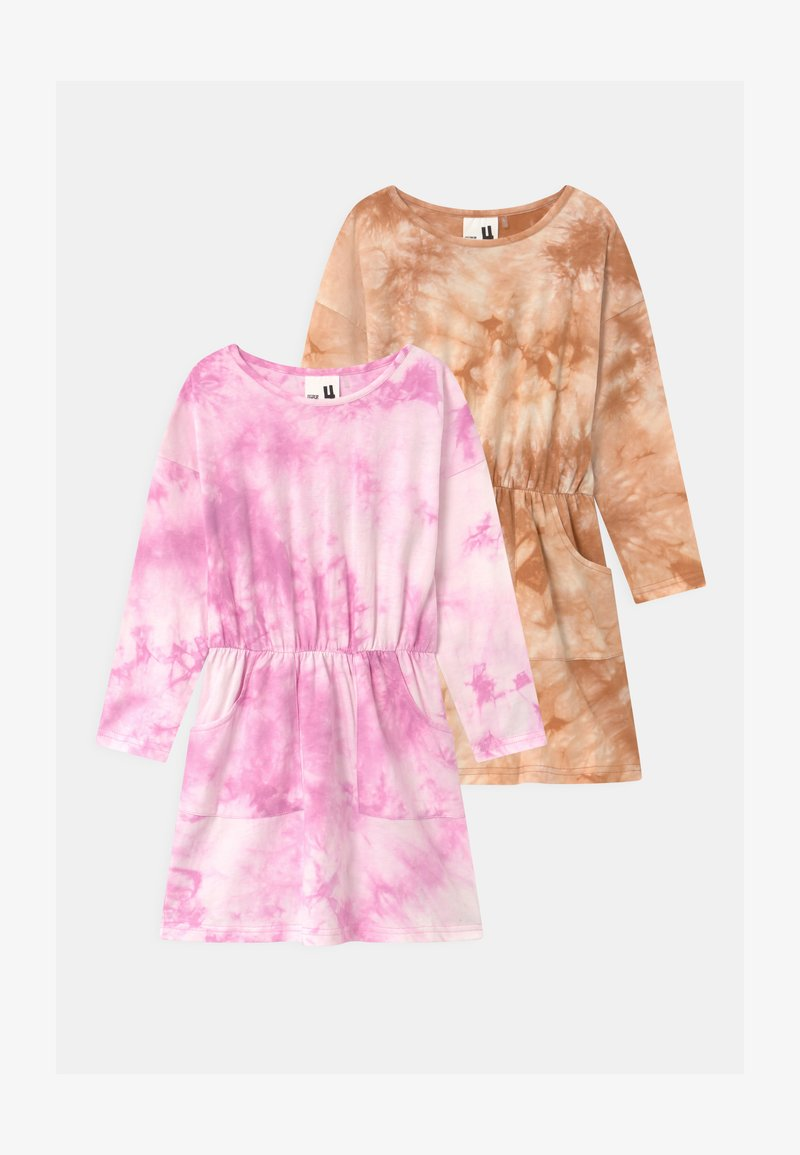 Cotton On - SIGRID LONG SLEEVE 2 PACK - Jersey dress - purple paradise/roasted almond