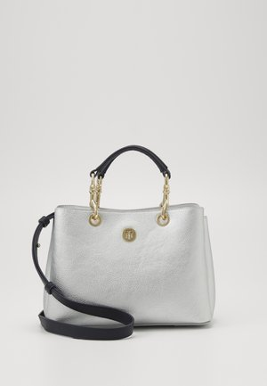 CORE SATCHEL METALLIC - Handbag - grey