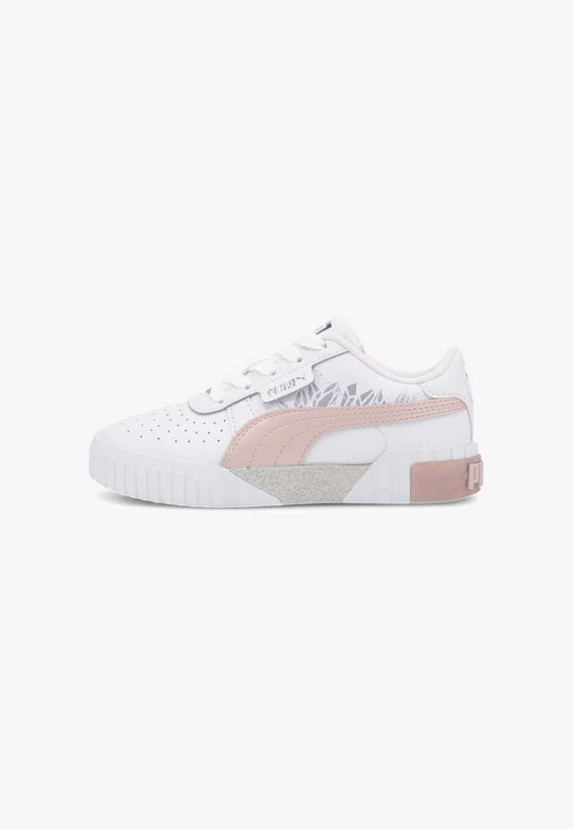 Trainers - white-peachskin