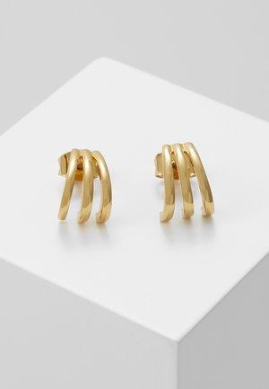 TRIPLE BAR STUD CUFF EARRINGS - Earrings - pale gold-coloured