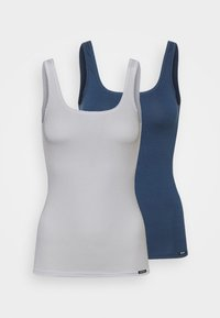 Skiny - DAMEN TANK ADVANTAGE FLASH 2 PACK - Undershirt - insigniablue - 4