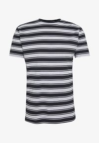 ALBAM - Print T-shirt - navy/white/grey mel