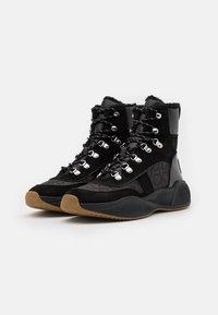 Calvin Klein - BONNET - Lace-up ankle boots - black - 1
