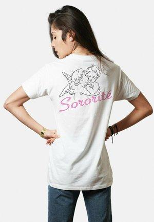 SORORITE - T-shirt print - white
