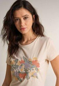 Salsa - SAMARA REGULAR - Print T-shirt - weiß - 3
