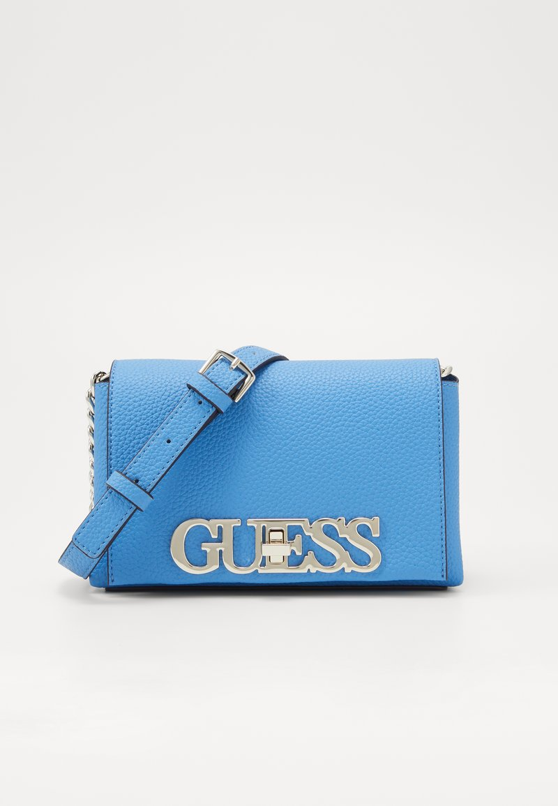 Guess - UPTOWN CHIC MINI XBODY FLAP - Across body bag - electric blue