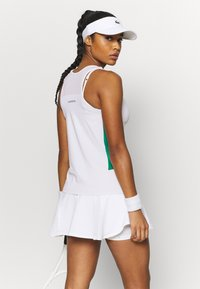 Lacoste Sport - TENNIS TANK - Sports shirt - white/cosmic greenfinch/black - 2