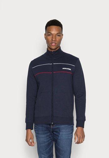 JJKEVIN HIGH NECK - Zip-up sweatshirt - navy blazer