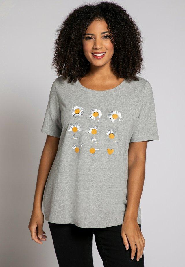 Print T-shirt - hellgrau-melange
