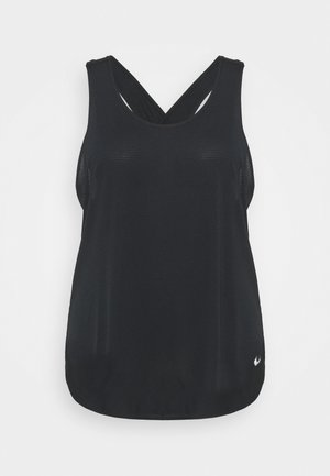 BREATHE TANK COOL PLUS - Toppe - black/reflective silver