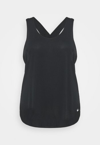BREATHE TANK COOL PLUS - Topper - black/reflective silver