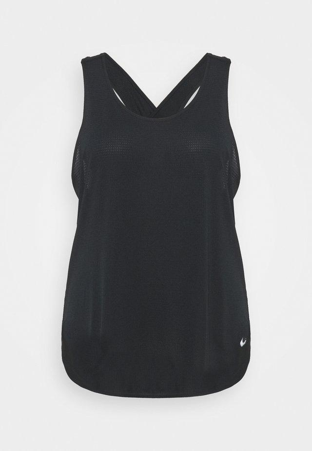 BREATHE TANK COOL PLUS - Top - black/reflective silver