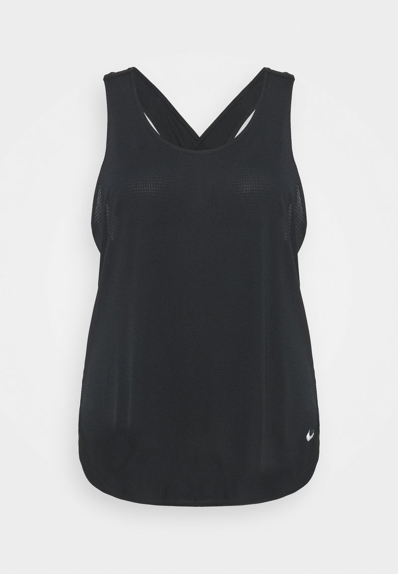 Nike Performance - BREATHE TANK COOL PLUS - Top - black/reflective silver