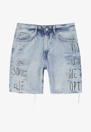 Denim shorts - blue-grey
