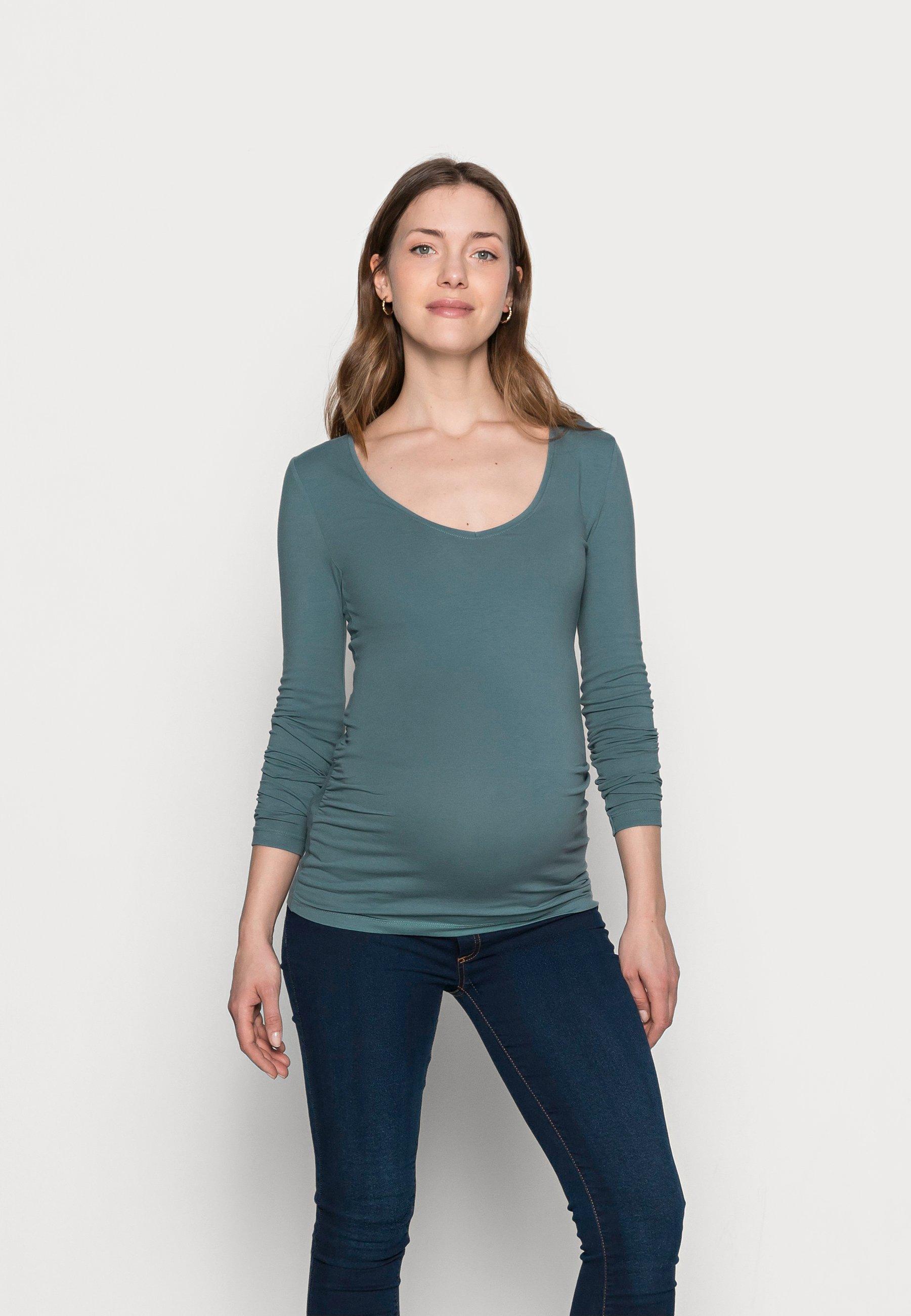 Women V NECK BASIC LONG SLEEVE TOP - Long sleeved top
